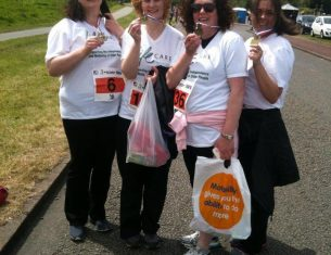 A group of ladies fundraising for LifeCare Edinburgh
