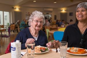Customers enjoying lunch at Stockbridge's community cafe CafeLife