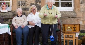 Having fun outdoors at the Cottage dementia day club in Portobello, Edinburgh.