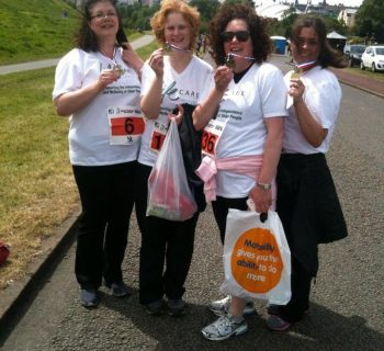 A group of ladies fundraising for LifeCare Edinburgh