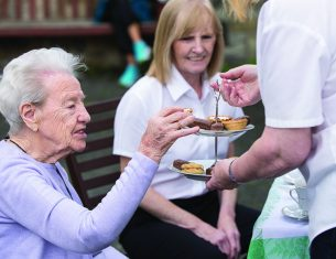 Afternoon tea at one of LifeCare Edinburgh's day clubs for the elderly