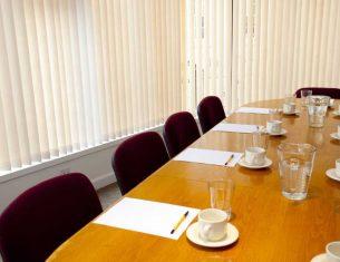 A 12 seater boardroom for hire in Stockbridge Edinburgh in the LifeCare Centre